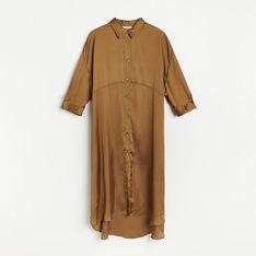 Reserved - Sukienka o satynowym połysku - Zielony
