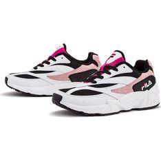 Buty sportowe damskie Fila do biegania skórzane bez wzorów