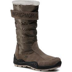 Buty zimowe dziecięce z napisami gore-tex