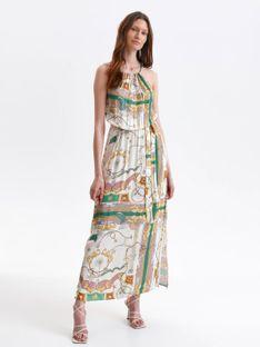 Długa sukienka na lato z nadrukiem