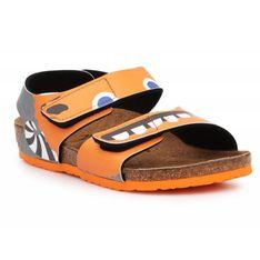 Sandały Birkenstock Palu Kids Bs 1019047 czarne pomarańczowe