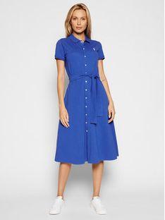 Polo Ralph Lauren Sukienka codzienna 211838097002 Niebieski Regular Fit