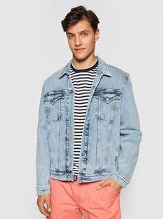 Calvin Klein Jeans Kurtka jeansowa J30J317763 Niebieski Slim Fit