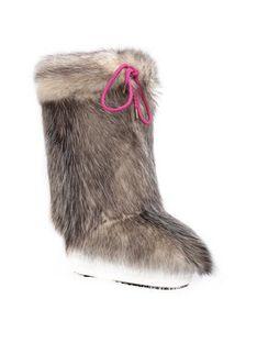 Moon Boot Ocieplacz na obuwie Cover Opossum 140C0V01001 Brązowy