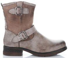 Firmowe Botki Damskie Lady Glory buty na każdą okazję wykonane z wysokiej jakości skóry eko Khaki (kolory)