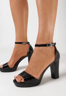 Czarne Sandały Klephiphise