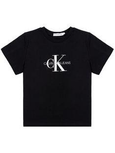 Calvin Klein Jeans T-Shirt Monogram Logo IU0IU00068 Czarny Regular Fit