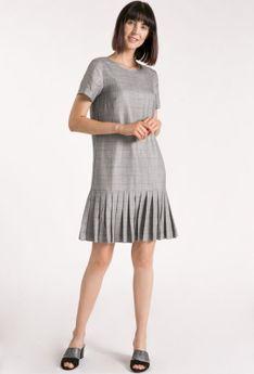 Wizytowa sukienka w kratkę