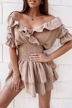 Sukienka SIBALDA BEIGE