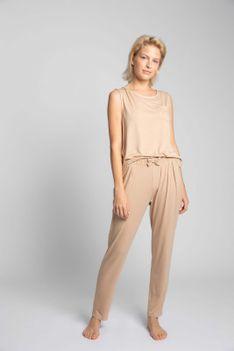 Spodnie od Piżamy z Wiskozy - Cappuccino