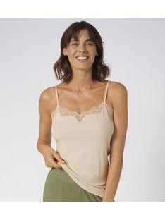 Triumph Koszulka piżamowa Climate Control 10207511 Beżowy