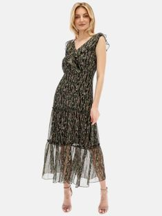 Zwiewna sukienka z falbanką Smashed Lemon