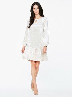 Welurowa kremowa sukienka L`AF AMANA