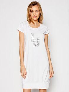Liu Jo Beachwear Sukienka codzienna VA1091 J5003 Biały Regular Fit