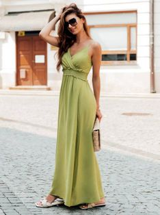 Sukienka damska 036DLR - zielona