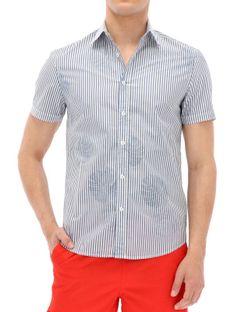 Letnia męska koszula w paski Desigual ANGEL