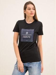 Iceberg T-Shirt 19II2P0F0916301 Czarny Regular Fit