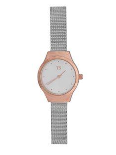 Elegancki zegarek z kopertą w kolorze różowego złota