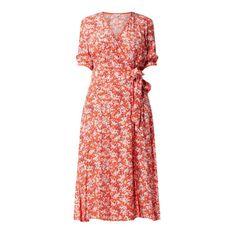 Sukienka kopertowa ze wzorem w drobne kwiaty model 'Leonora'
