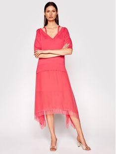 TwinSet Sukienka dzianinowa 211TT3190 Różowy Regular Fit