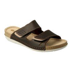 Inblu klapki obuwie damskie  158D170 brązowe