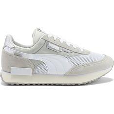 Buty sportowe damskie beżowe Puma zamszowe wiązane