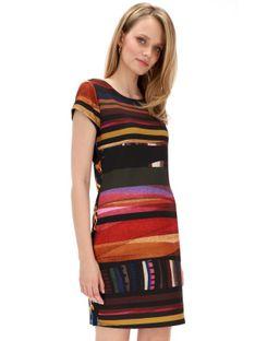 Wzorzysta sukienka z łączonych tkanin Desigual SECOND