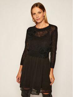 TwinSet Komplet sukienka letnia i sweter 202TP3262 Czarny Regular Fit