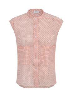 Bluzka w różowy geometryczny wzór Premiera Dona MELI