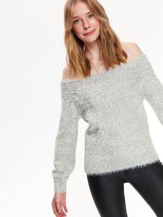 Sweter długi rękaw damski   dopasowany