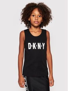 DKNY Top D35R21 S Czarny Regular Fit