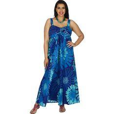 Sukienka Aller Simplement niebieska luźna maxi asymetryczna na ramiączkach z dekoltem w serek