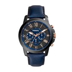 Zegarek FOSSIL - Grant Chrono FS5061IE  Navy/Black