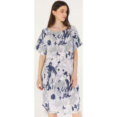 Sukienka Unisono z krótkim rękawem luźna na wiosnę