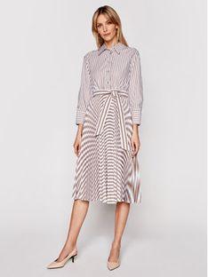 Marella Sukienka koszulowa Praga 32210114 Biały Regular Fit