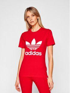 adidas T-Shirt adicolor Classics Trefoil GN2902 Czerwony Regular Fit