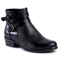 Botki CAPRICE - 9-25309-25 Black Nappa 923