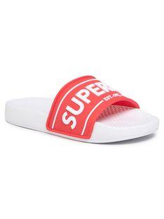Superdry Klapki Edit Chunky Slide WF310002A Czerwony