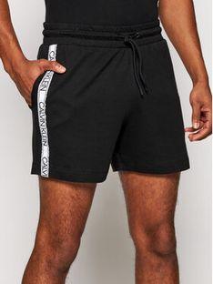 Calvin Klein Swimwear Szorty sportowe Medium Terry KM0KM00611 Czarny Regular Fit