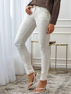 Casualowe spodnie z motywem kwiatowym L`AF MAFFY