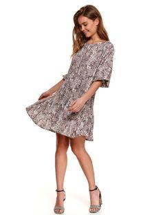 Sukienka fit and flare w nadruk paisley