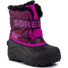 Buty zimowe dziecięce Sorel śniegowce na rzepy