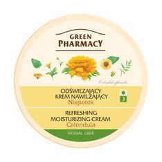 Green Pharmacy, odświeżająco-nawilżający krem do twarzy z nagietkiem, 150 ml