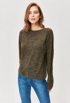 Sweter z ażurowym zdobieniem