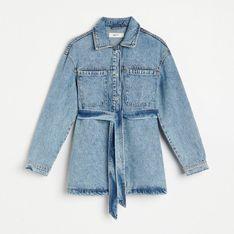 Reserved - Jeansowy żakiet - Niebieski