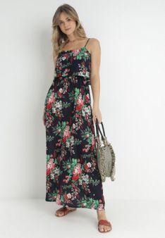 Granatowa Sukienka Sylinore