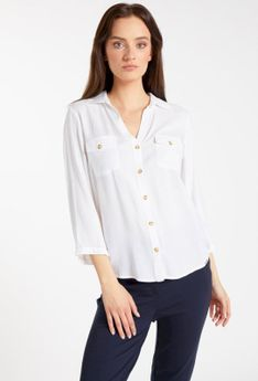 Koszula z cieniowanymi guzikami
