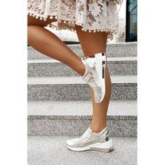 Buty sportowe damskie Saway sneakersy skórzane bez wzorów
