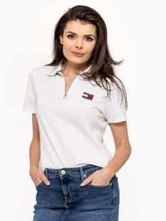 """Tommy Jeans """"Badge Polo"""" White"""