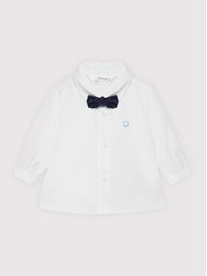 Mayoral Komplet koszula i mucha 1175 Biały Regular Fit